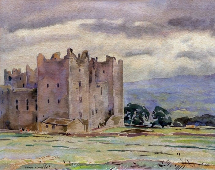 Piers Brown painting Bolton Castle